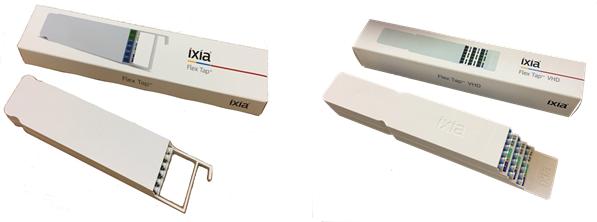 標準フレックスタップ:1つの標準ラックマウントに  フレックスタップVHD:1つの標準ラックマウン<br /> 最大24個のモジュール、最大24個のタップ       トに最大12個のモジュール、最大36個のタップ