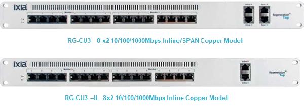 RG-CU3 / RG-CU3-IL 10/100/1000Base-T リジェネレーション・タップ Ixia  A Keysight Business