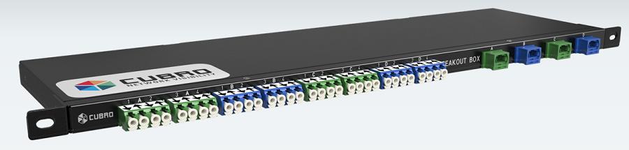 100G/40G MTP-LC ブレイクアウトボックス | CUBRO